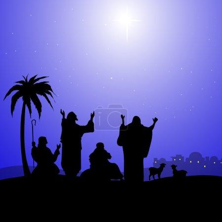 Holy Star in Bethlehem-Vector