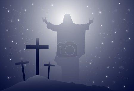 Jesus & Holy Cross-Vector