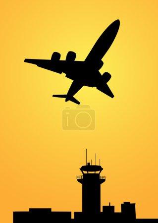 Illustration pour Morning Flight just Fly est une illustration vectorielle . - image libre de droit
