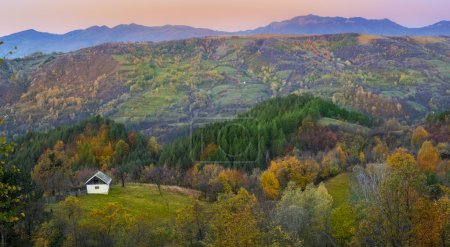 Photo for Beautiful autumn landscape and old house - Royalty Free Image
