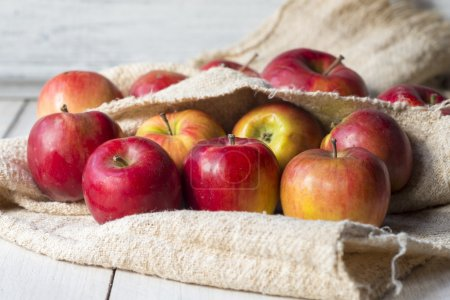 Photo for Ripe red apples on the table - Royalty Free Image