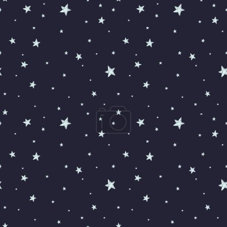 Pattern with night sky and stars