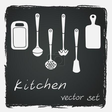 Set of different kitchen utensils