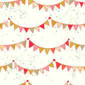 Pattern with colorful bunting flags