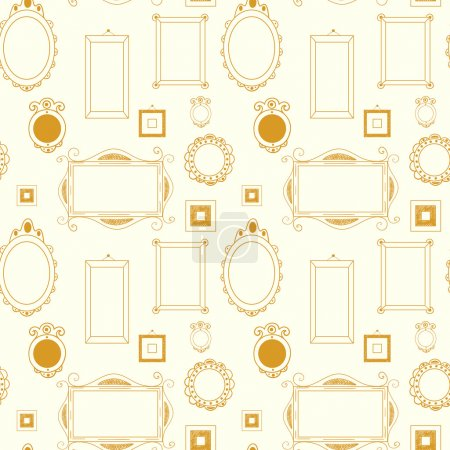 Seamless pattern with frames and borders
