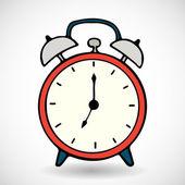 red cartoon alarm clock