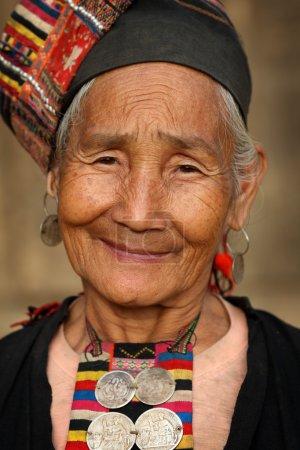 Akha woman in a village near Phongsaly, Laos.