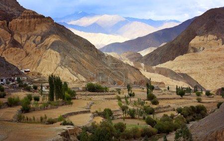 Moon Valley and Himalayan mountain range