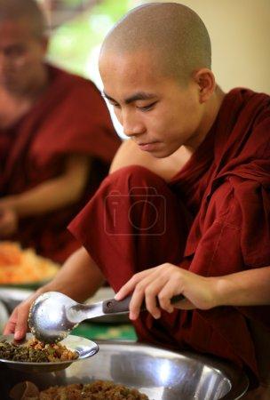 An unidentified young Burmese monk