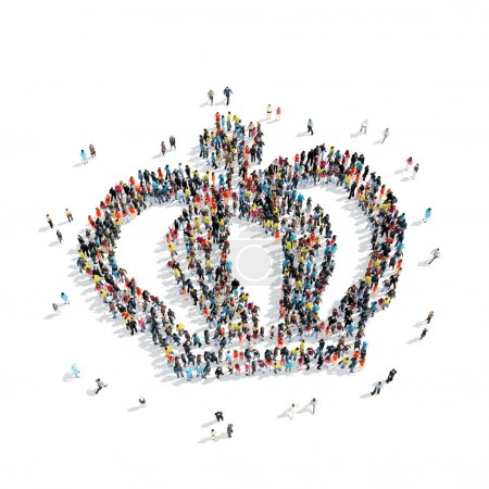 group  people  shape  crown