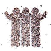 Velká skupina lidí, jako lidé