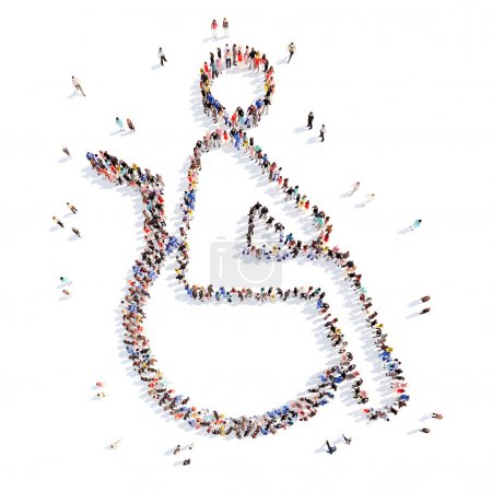 people in the form of a disabled person.