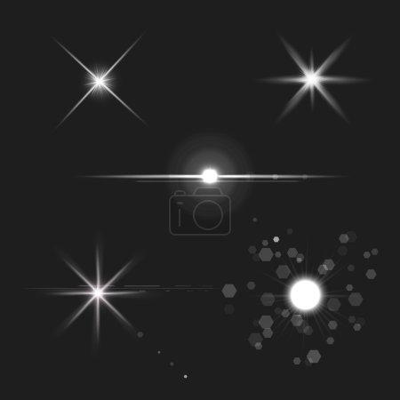 lens flares star lights vector
