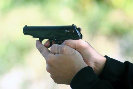 Tirer avec un pistolet