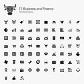 73 Business and Finance Pixel Perfect Icons