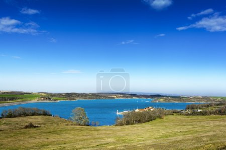Photo pour Lac de La Ganguise, Retenue de l'estrade - image libre de droit