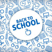 Back to school A white background Icon school supplies Vector