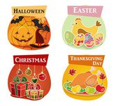 Thanksgiving day Easter Halloween Christmas vector set -  detailed icons