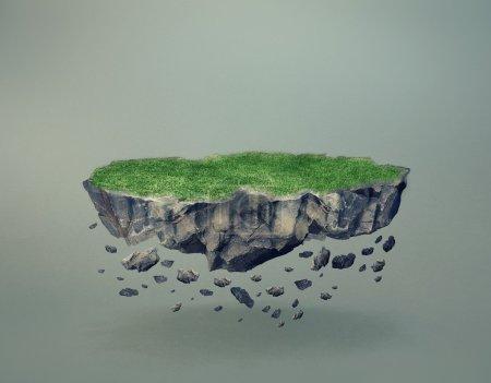 Floating Rock Island