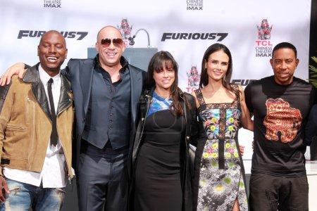 Tyrese Gibson, Vin Diesel, Michelle Rodriguez, Ludacris, Jordana Brewster