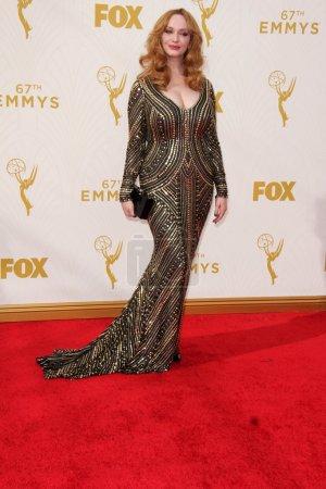 Christina Hendricks at the 67th Annual Primetime Emmy Awards