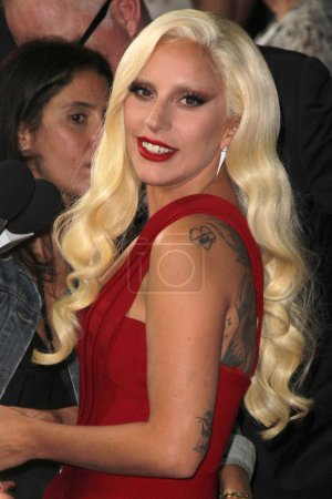 """Photo for LOS ANGELES  - OCT 03,2015: Lady Gaga at the """"American Horror Story Hotel"""" Premiere Screening, Regal Cinemas, Los Angeles, CA - Royalty Free Image"""
