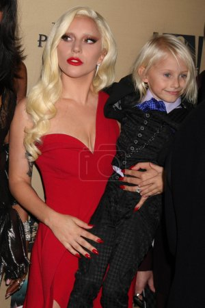 """Photo for LOS ANGELES  - OCT 03,2015: Lady Gaga, Lennon Henry at the """"American Horror Story Hotel"""" Premiere Screening, Regal Cinemas, Los Angeles, CA - Royalty Free Image"""