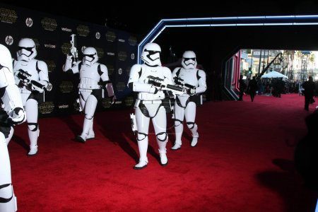 "Photo for HOLLYWOOD  - DEC 14: Storm Trooper at the ""Star Wars: The Force Awakens"" World Premiere, El Capitan, Hollywood, CA - Royalty Free Image"