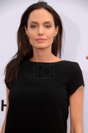 """Photo for HOLLYWOOD  - JAN 16: Angelina Jolie at the """"Kung Fu Panda 3"""" Premiere, Chinese Theater, Hollywood, CA 01-16-16 - Royalty Free Image"""