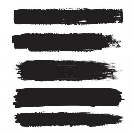 Illustration for Vector set of grunge artistic brush strokes, brushes. Creative design elements. - Royalty Free Image