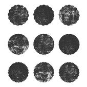 Collection of grunge circle shapes design elements for logo branding label Old dirty forms