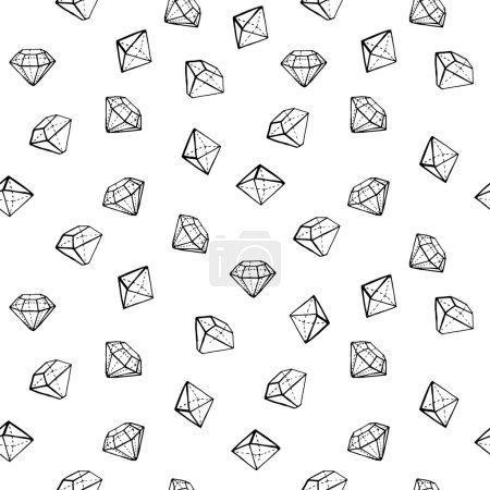 Jewels fashion seamless pattern.