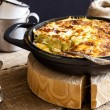 Casserole of rice, vegetables, cheese and zucchini...