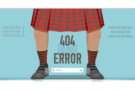 Page Not Found Error 404, vector illustration