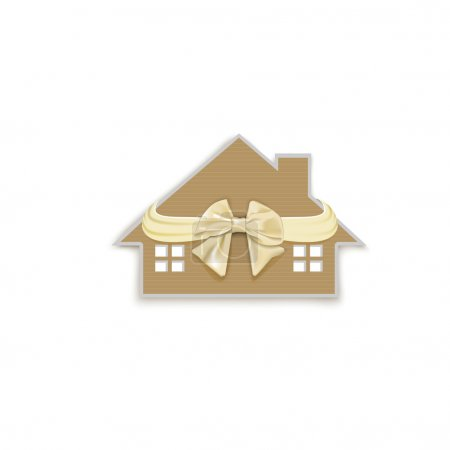 house with a bow as a gift