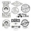 Bicycle badges logos and labels for any use, isola...