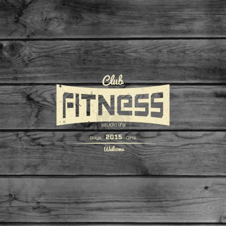 Fitness club badges logos and labels