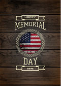 Memorial day badges logos and labels for any use  on wooden background texture