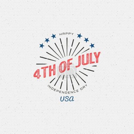 Quatrième de juillet Fête de l'indépendance Usa insignes logos et labels pour tout usage