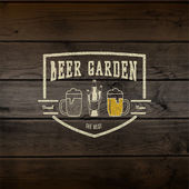 Beer garden badges logos and labels for any use