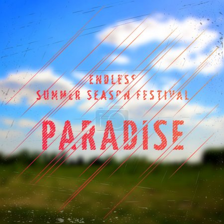 Summer festival paradise badges cards and labels for any use