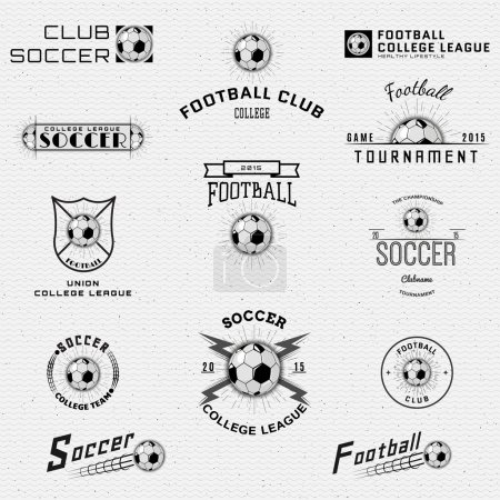 Football, Soccer badges logos and labels for any use