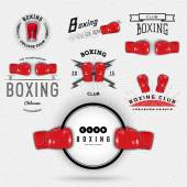 Boxing badges logos and labels for any use