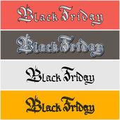 Black Friday lettering sticker