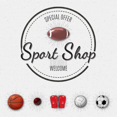 Sports shop insignia  and labels for any use