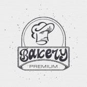 Bakery Handwritten inscription Hand drawn calligraphy lettering  typography badge It can be used for signage logos branding product launches