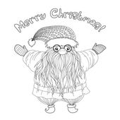 Santa-Claus-in-Zentangle-style