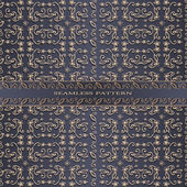Vintage abstract pattern with floral ornaments