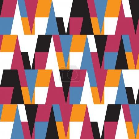 Illustration pour Modèle sans couture géométrique coloré lumineux - image libre de droit