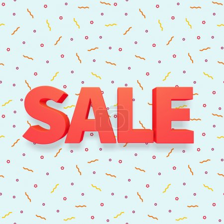 Photo for 3d red label text SALE - Royalty Free Image